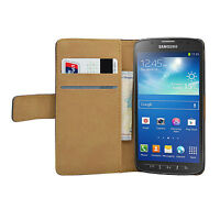 WALLET Black For Samsung Galaxy S4 Active GT-i9295Leather flip pouch case cover