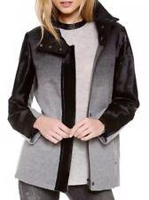 NWT Helmut Lang Gray Black Ombré Wool Calf Pony Hair Jacket Coat Size XS/P