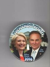 2016 CLINTON pin HILLARY Campaign TIM KAINE Fighting 4 You ESPANOL Spanish 3in
