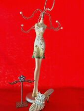 Lot 3 Frosted Fantasy Just The Right Shoe Earring Holder Necklace Dress ��sj3j