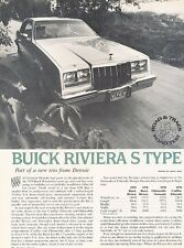 1979 Buick Riviera S Type Original Car Review Print Article J532