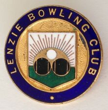 Lenzie Bowling Club Badge Pin Rare Vintage Northern Territory (M17)