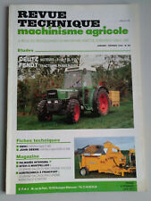 REVUE TECHNIQUE TRACTEUR FENDT FARMER 240 250 260 275 280 Moteurs Deutz F3L F4L