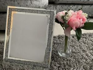 Crushed Mirror Sparkley Picture Frame In Sizes 8x 10 Inches