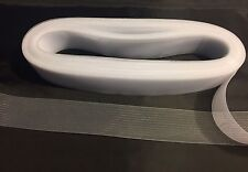 50 Yards-2 Inches White Crinoline Horsehair Braid Trim-wedding-bridal-decoration