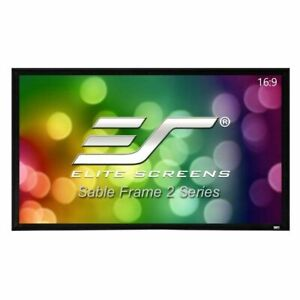 """NEW Elite Screen ER100WH2 Sable Frame 2 Series 100"""" (16:9) Projector Screen (P)"""