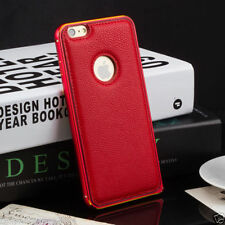 Unbranded/Generic Leather Mobile Phone Bumpers for Apple iPhone 6 Plus