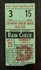 1973 Joe Coleman Season Win #22 1-hit shutout ticket stub Detroit Tigers Kaline