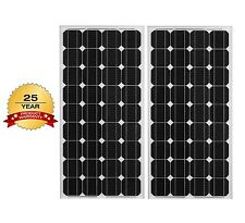 Two 140W Watt 12V Volt PV Solar Panels RV Boat Camping Off Grid *280 Watts Total