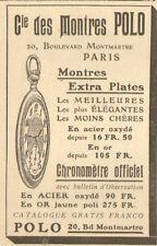 PARIS MONTMARTRE PUBLICITE MONTRES POLO 1906