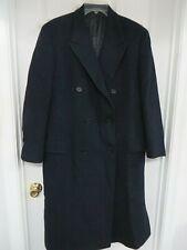 BURBERRYS'  Wool Double breasted Men's Navy blue Coat Jacket  M-L