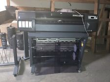 Hp Designjet 1050c Wide Format Printer With3 Roll Feeder Ampseparate Printing Rack