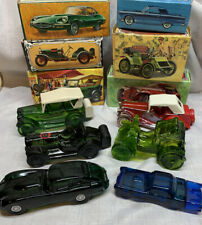Set Of 6 Vintage Avon Car Decanters . Full . In Boxes