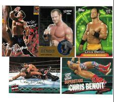 TOPPS WWE 5 CHRIS BENOIT WRESTLING CARDS