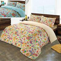 Gemma Luxury Paisley 100% Cotton Satin Sateen Quilt Duvet Cover Bedding Set