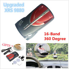 16-Band 360° Car GPS Laser Anti Radar Detectors Laser Voice Alert Cobra XRS 9880