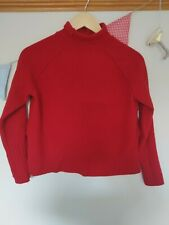 Red womens Whistles 100% merino wool jumper size small. Very good condition.