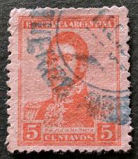 Argentina Stamp 1917 Gen San Martin 5c Used