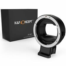 K&F Concept Auto Focus Adapter Canon EF EF-S Lens to Sony E Mount camera NEX a72