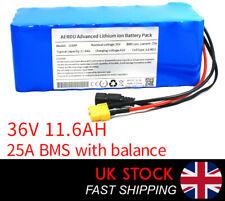 11.6Ah 36v Li-ion Battery Pack | LG MG1 cells for e-bike, Scooter