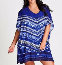 Plus Size Autograph Blue Mix Tie Dye Kaftan -Dress Size S or 16