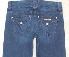 Hudson Jeans Signature Bootcut Low Waist w Flap Pockets Dark Distressed Sz 28