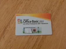 Microsoft Office Basic 2007 Lizenz inkl. Office Professional 2007 Testlizenz