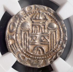 1097, Munster (Bishopric). Rare Medieval Silver Pfennig Coin. (1.51gm) NGC MS62!