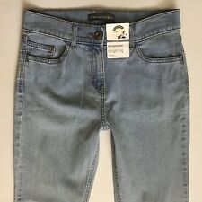Bnwt Damen M & S Straight Stretch hell blau Jeans Größe 10 L w28 l33 (385)