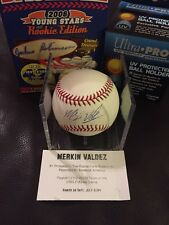 MERKIN VALDEZ Signed/Autographed Rawlings Official MLB Baseball TRISTAR, Giants