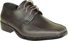 VANGELO/TUX-5 Wrinkle Free Mens Dress Shoes Bicycle Toe Brown Matte Size 10W