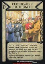 Dune CCG - Certificate of Allegiance  / Judge of the Change