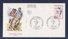 enveloppe 1er jour  championnats d'Europe d' Athlétisme  Paris   1970