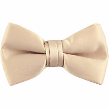 New KID'S BOY'S 100% Polyester Pre-tied Bow tie only beige formal wedding