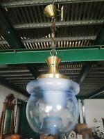 Lampadario vetro soffiato di Murano 1960 lampada sospensione design boccia 85 cm