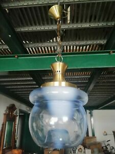 Chandelier Glass Blown Murano 1960 Lamp Suspension Design Boccia 33 1/2in