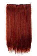 Postiche Extensions Cheveux Large 5 Clips Dense Lisse Auburn 60 cm L30172-350