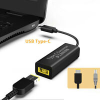 USB-C Male to Square USB Female Power Charger Converter for Lenovo Thinkpad