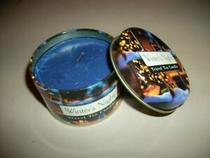 """5 pcs """"Winter's Night"""" scented candles in decorative """"travel"""" tins, 2""""x3""""  *"""