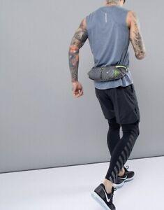 Nike Double Flask Pocket Running Sport Belt W/20oz Marathon Workout Water Bottle
