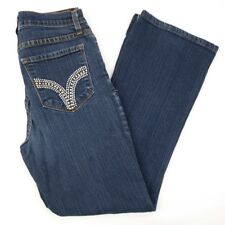 NYDJ Not Your Daughters Jeans Womens Size 8 Bootcut Embellished Blue Jeans 26x28