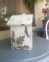 Rustic Vintage Style METAL MAILBOX Post Box Embossed Shabby Chic Primitive Ivory