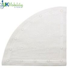 """Corner/Quadrant Shower Mat Luxuriously Soft White 23.5""""x23.5"""" (59.7x59.7cm)"""