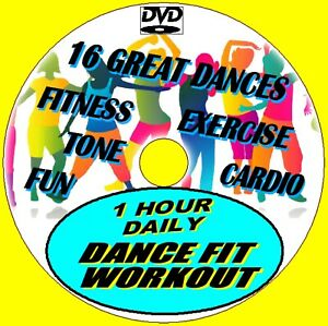 1 Hr Daily Dance Fit Workout 15 Healthy Fun Fitness Aerobic Cardio Routines DVD