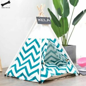 Dog Tent House Bed Pet Cat Puppy Cushion Kennel Teepee Nest Warm Sleeping Fluffy