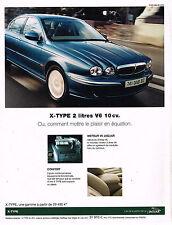 PUBLICITE ADVERTISING 104  2002  JAGUAR  X-TYPE 2L V6 10cv