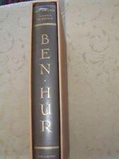 BEN HUR Limited Edition Club SIGNED Lew Wallace 1960 HB & Jacket