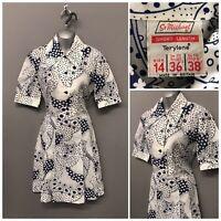 Vintage St Michael M&S White Mix Dress UK 14 EUR 42 Short Length