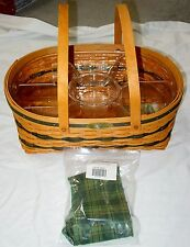 NEW 1999 LONGABERGER TRADITIONS GENEROSITY BASKET--2 PIECE PROTECTOR AND LINER