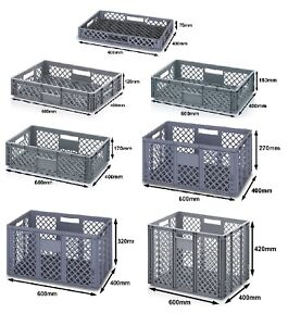 600 x 400 Euro Ventilated Perforated Stacking Storage Containers Boxes Crates!